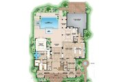Mediterranean Style House Plan - 5 Beds 6 Baths 8183 Sq/Ft Plan #27-558