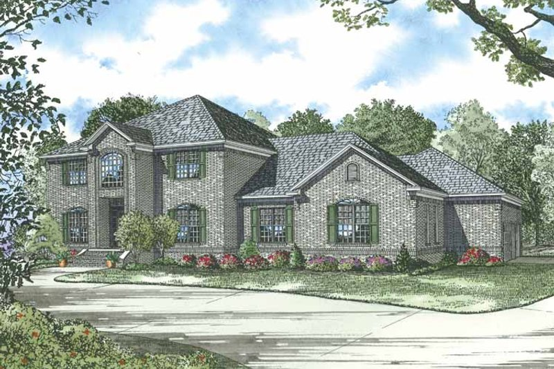 Traditional Exterior - Front Elevation Plan #17-2835
