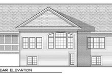 Dream House Plan - Ranch Exterior - Rear Elevation Plan #70-911
