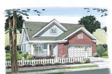 Dream House Plan - Traditional Exterior - Front Elevation Plan #513-2107