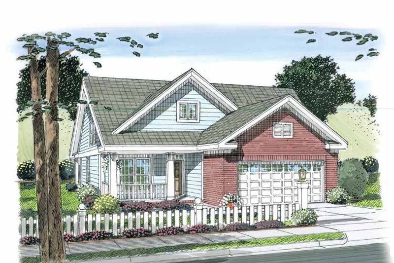 Traditional Exterior - Front Elevation Plan #513-2107 - Houseplans.com