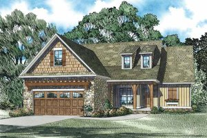 Country Exterior - Front Elevation Plan #17-3355