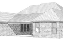 European Exterior - Rear Elevation Plan #63-251