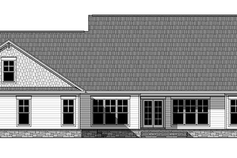 Craftsman Exterior - Rear Elevation Plan #21-434 - Houseplans.com