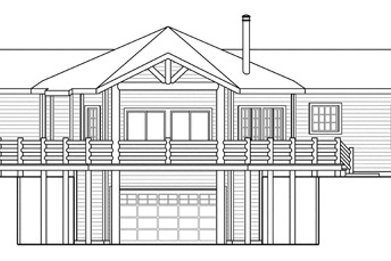 Craftsman Exterior - Rear Elevation Plan #124-853 - Houseplans.com