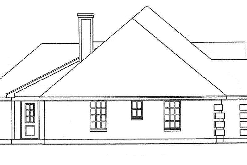 Traditional Exterior - Other Elevation Plan #40-505 - Houseplans.com