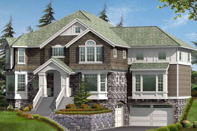 Craftsman Exterior - Front Elevation Plan #132-452 - Houseplans.com