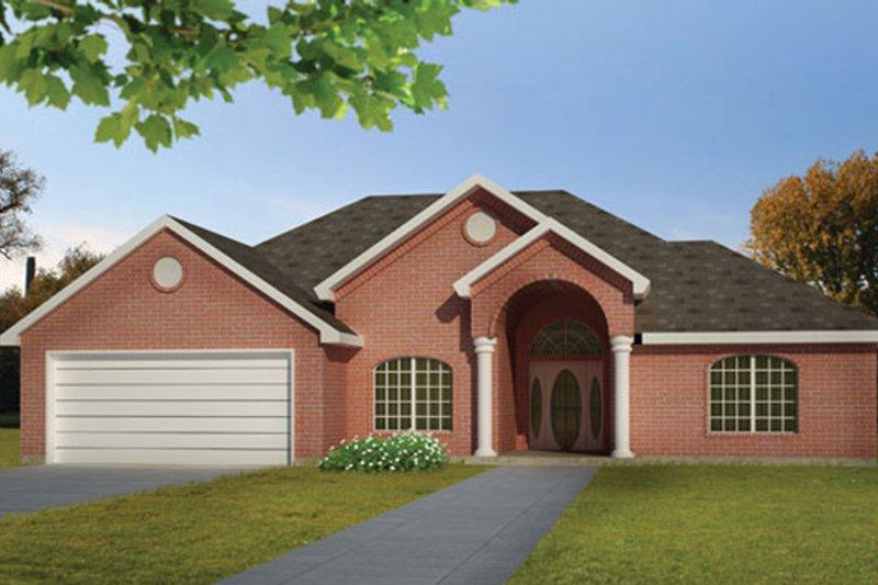 Ranch Exterior - Front Elevation Plan #1061-14 - Houseplans.com