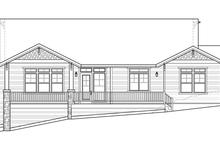 Prairie Exterior - Rear Elevation Plan #509-350