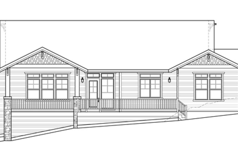 Prairie Exterior - Rear Elevation Plan #509-350 - Houseplans.com