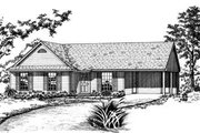 Ranch Style House Plan - 3 Beds 2.5 Baths 988 Sq/Ft Plan #36-254