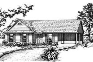 Ranch Exterior - Front Elevation Plan #36-254