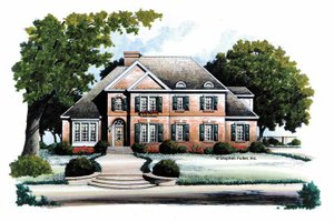 Home Plan - Traditional Exterior - Front Elevation Plan #429-107