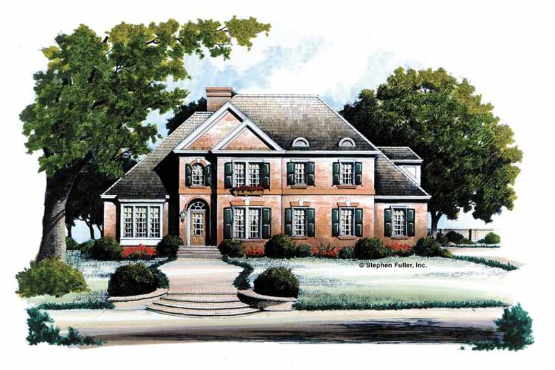 Traditional Exterior - Front Elevation Plan #429-107 - Houseplans.com