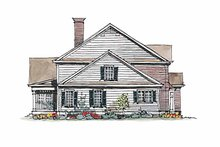 House Plan Design - Colonial Exterior - Other Elevation Plan #429-178