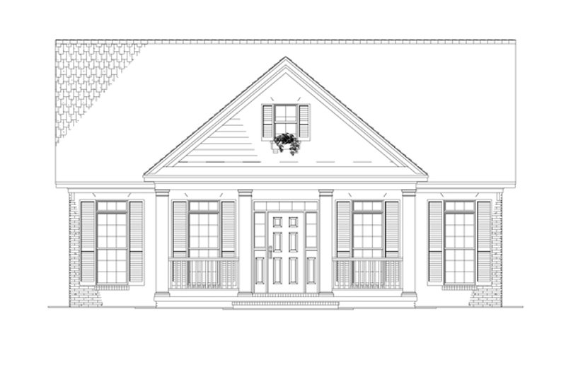 Country Exterior - Front Elevation Plan #17-2903 - Houseplans.com