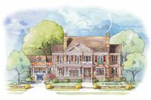 House Plan Design - Colonial Exterior - Front Elevation Plan #429-432
