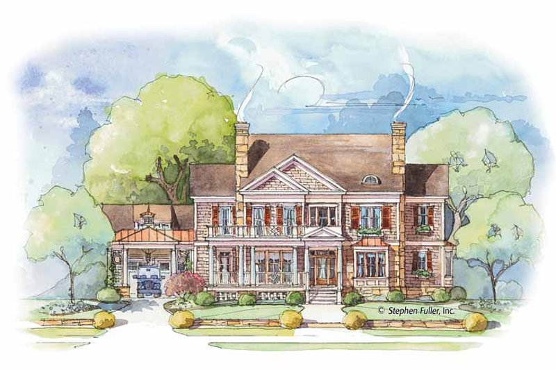 Colonial Exterior - Front Elevation Plan #429-432