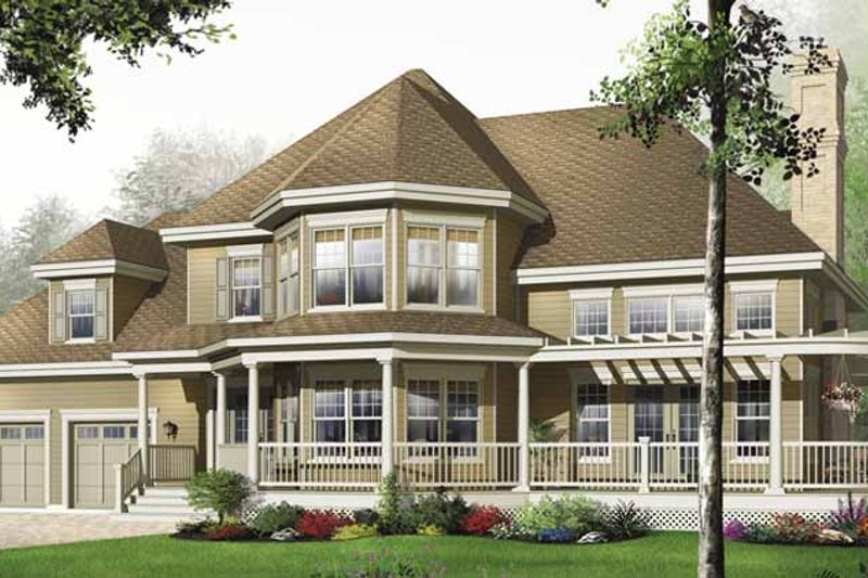 Country Exterior - Front Elevation Plan #23-2470