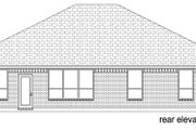 Traditional Style House Plan - 3 Beds 2 Baths 1974 Sq/Ft Plan #84-604 Exterior - Rear Elevation