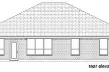 Dream House Plan - Traditional Exterior - Rear Elevation Plan #84-604