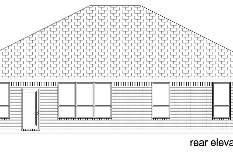 Traditional Exterior - Rear Elevation Plan #84-604 - Houseplans.com