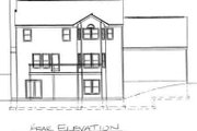 Colonial Style House Plan - 4 Beds 2 Baths 2717 Sq/Ft Plan #75-127 Exterior - Rear Elevation