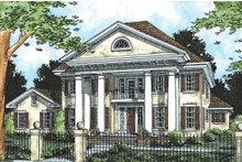 Architectural House Design - Southern Colonial style home, elevation
