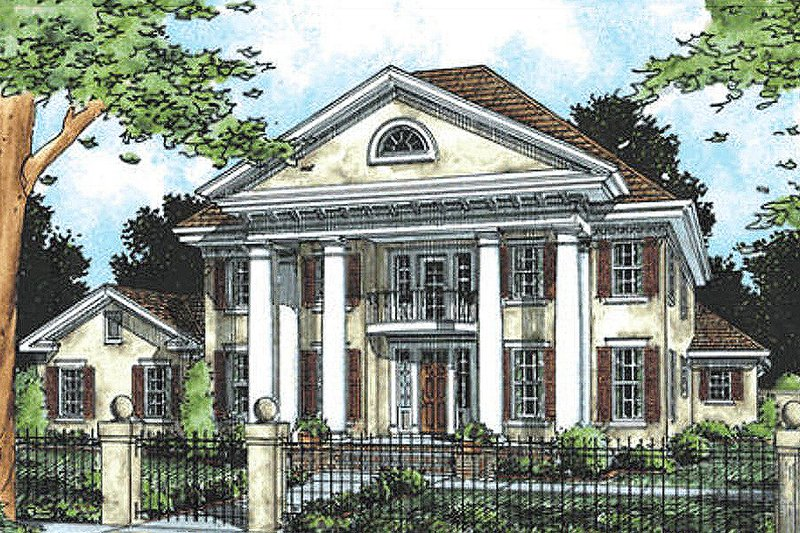 Southern Colonial style home, elevation