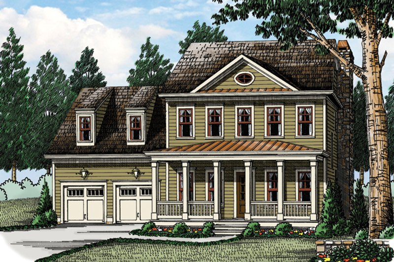Architectural House Design - Traditional Exterior - Front Elevation Plan #927-955