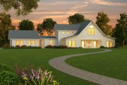 Farmhouse Style House Plan - 3 Beds 2.5 Baths 3754 Sq/Ft Plan #888-1 Exterior - Front Elevation