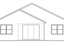 Colonial Exterior - Rear Elevation Plan #1058-102