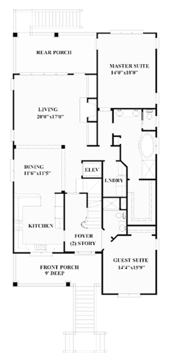 Colonial Floor Plan - Upper Floor Plan Plan #991-24