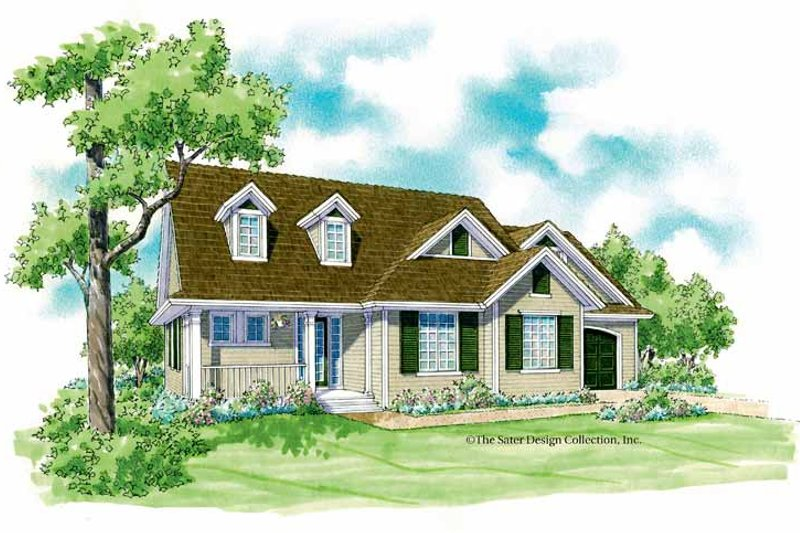Country Exterior - Front Elevation Plan #930-247