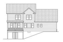 Colonial Exterior - Rear Elevation Plan #1010-115