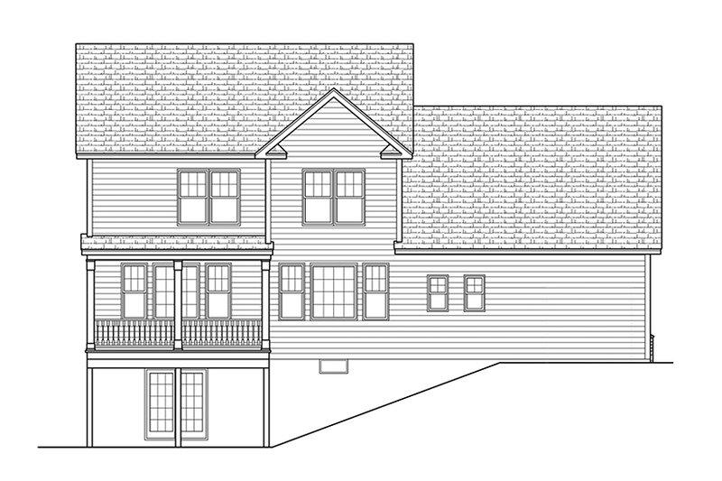 Colonial Exterior - Rear Elevation Plan #1010-115 - Houseplans.com