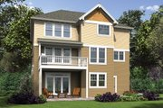 Cottage Style House Plan - 5 Beds 3.5 Baths 3800 Sq/Ft Plan #48-1018 Exterior - Rear Elevation