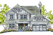 Craftsman Style House Plan - 4 Beds 3.5 Baths 2542 Sq/Ft Plan #20-240 Exterior - Front Elevation