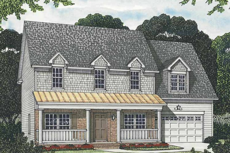 Traditional Exterior - Front Elevation Plan #453-554 - Houseplans.com