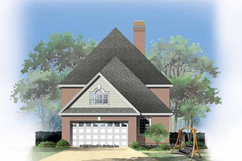 Colonial Exterior - Rear Elevation Plan #929-856 - Houseplans.com
