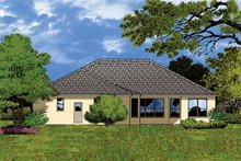 Mediterranean Exterior - Rear Elevation Plan #1015-11