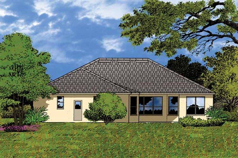 Mediterranean Exterior - Rear Elevation Plan #1015-11 - Houseplans.com