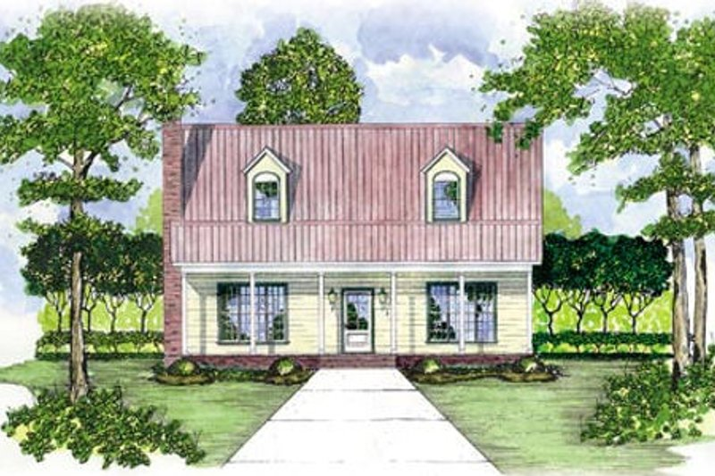 Farmhouse Style House Plan - 3 Beds 3.5 Baths 1851 Sq/Ft Plan #36-162 Exterior - Front Elevation