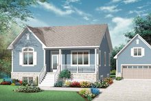 Architectural House Design - Country Exterior - Front Elevation Plan #23-2429