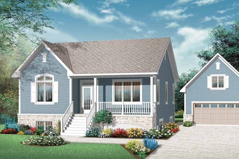 Home Plan - Country Exterior - Front Elevation Plan #23-2429