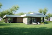 Modern Style House Plan - 4 Beds 1.5 Baths 1941 Sq/Ft Plan #552-6 Exterior - Front Elevation