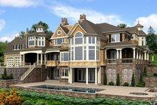 Craftsman Exterior - Rear Elevation Plan #132-565
