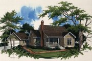 Country Style House Plan - 3 Beds 2 Baths 1393 Sq/Ft Plan #41-109 Exterior - Front Elevation