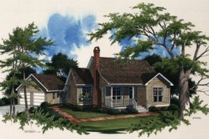 House Plan Design - Country Exterior - Front Elevation Plan #41-109