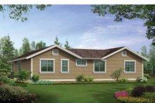 Craftsman Exterior - Rear Elevation Plan #132-531